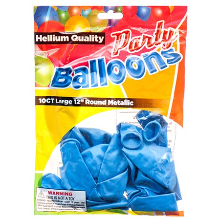 New 374457  Balloon Metallic Blue 12 10Ct (12-Pack) Party Set Cheap Wholesale Discount Bulk Party Supplies Party Set Candle Holder Pedestal - Party Supplies Cheap