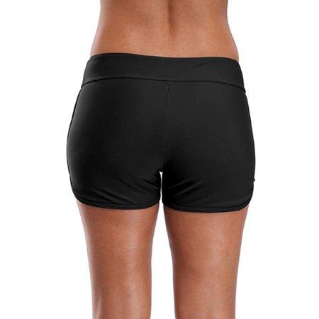 479ed896922 HIMONE - New Women High Waist Swim Boy Shorts Briefs Bikini Bottom Tankini  Shorts Swimsuit Sexy Swimwear Swimming Bathing Suit Beach Black Navy Blue  ...