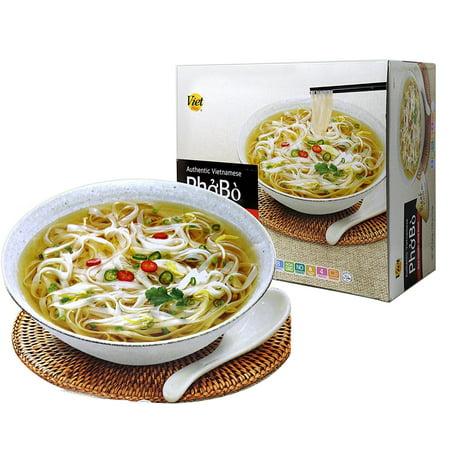 Authentic Vietnamese Pho Bo Rice Noodle Soup Bowl - 8 Bowls Per Box ( 1  Boxes)