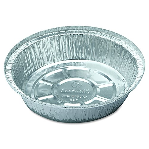 Pactive PACY52725 Hemmed-edge Food Container Bases, Aluminum/white, 7dia X 1 3/4h, 250/carton