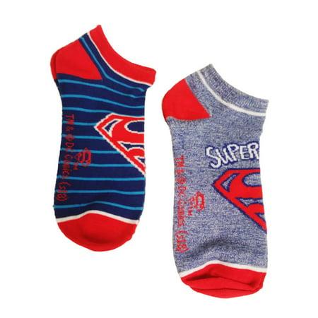 HYP Comics DC Superman Ankle Socks 2-Pack Sock Size 9-11 - Super Man Socks