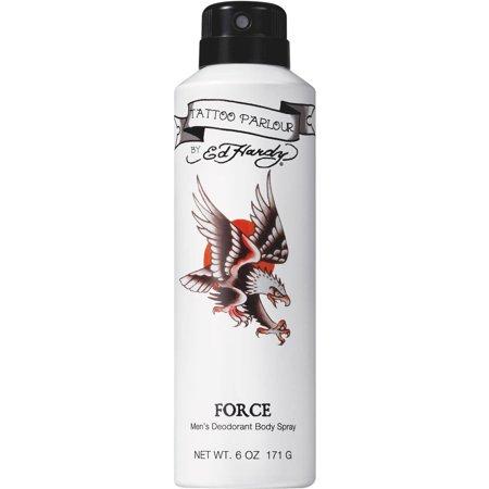 Tattoo Parlour by Ed Hardy Force Men's Deodorant Body Spray, 6 oz for $<!---->