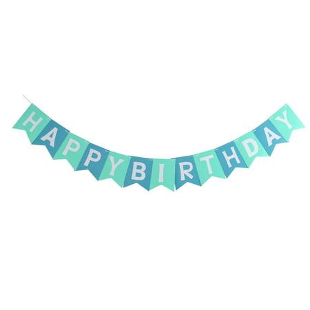 Paper HAPPY BIRTHDAY Letter Print DIY Craft Party Hanger Decor Photo Prop Banner - Diy Birthday Banner
