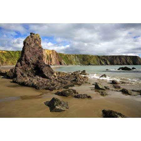 Ballydowane Cove Copper Coast Geopark Near Bunmahon County Waterford Ireland Canvas Art   George Munday  Design Pics  18 X 12