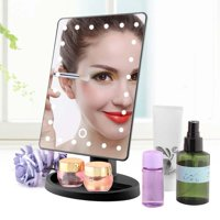 Fugacal 10X Manifying Mirror, Makeup Mirror,24LED 10X Manifying Cosmetic Mirror Touch Screen Battery Power Supply Makeup Mirror