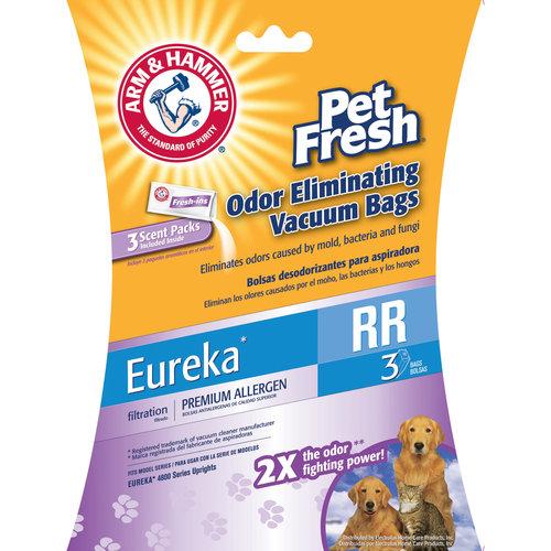 Arm & Hammer Premium Filtration Pet Fresh Odor Eliminating Vacuum Bags, Eureka RR Pet Fresh, 3 Pack