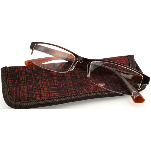 Foster Grant Men's Perry Reading Glasses, Red