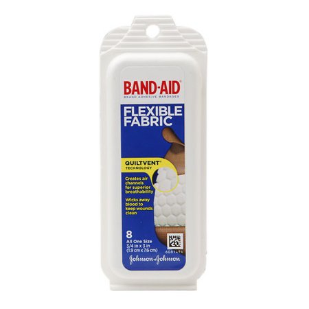 Johnson And Johnson Band-Aid Flex Fabric Travel Pack - 8 Ea (Halloween Band Aids)