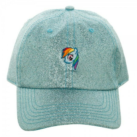 Baseball Cap - My Little Pony - Rainbow Dash Glitter Fabric Dad Hat ba5lrklpt - My Little Pony Hat