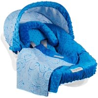 Carseat Canopy (No Car seat Included) 5 pc Whole Caboodle Baby Car seat Cover set Minky Noa