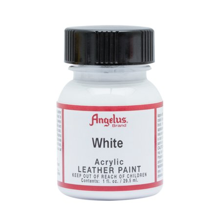 1 Oz Floquil Model Paint - Angelus® Acrylic Leather Paint, 1 oz., White