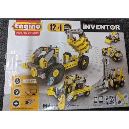 Engino.net Ltd Inventor Build 12 Models Industrial Vehicles Construction (Best Models To Build)