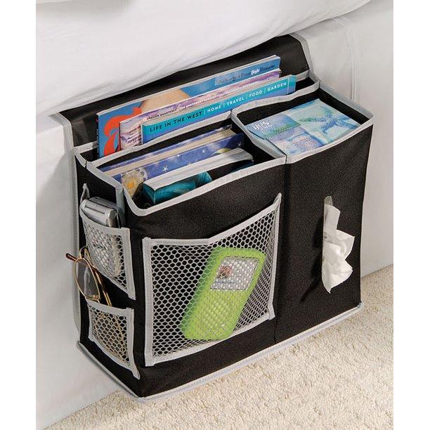 Richards Homewares 6 Pocket Bedside Storage Mattress Book Remote