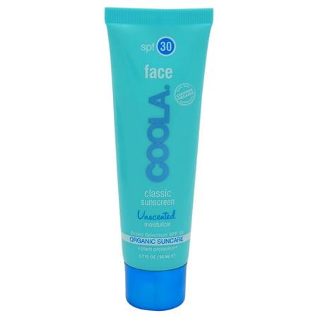 Coola Classic Face Sunscreen Moisturizer SPF 30 - Unscented - 1.7 (Classic Moisturizer)
