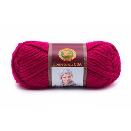- 135-103 Hometown USA Yarn, Baton Rouge Fuchsia, Made in the USA, Hometown USA yarn comes in a wide range of bright, primary colors, versatile multi-colors, and.., By Lion Brand Yarn Ship from US