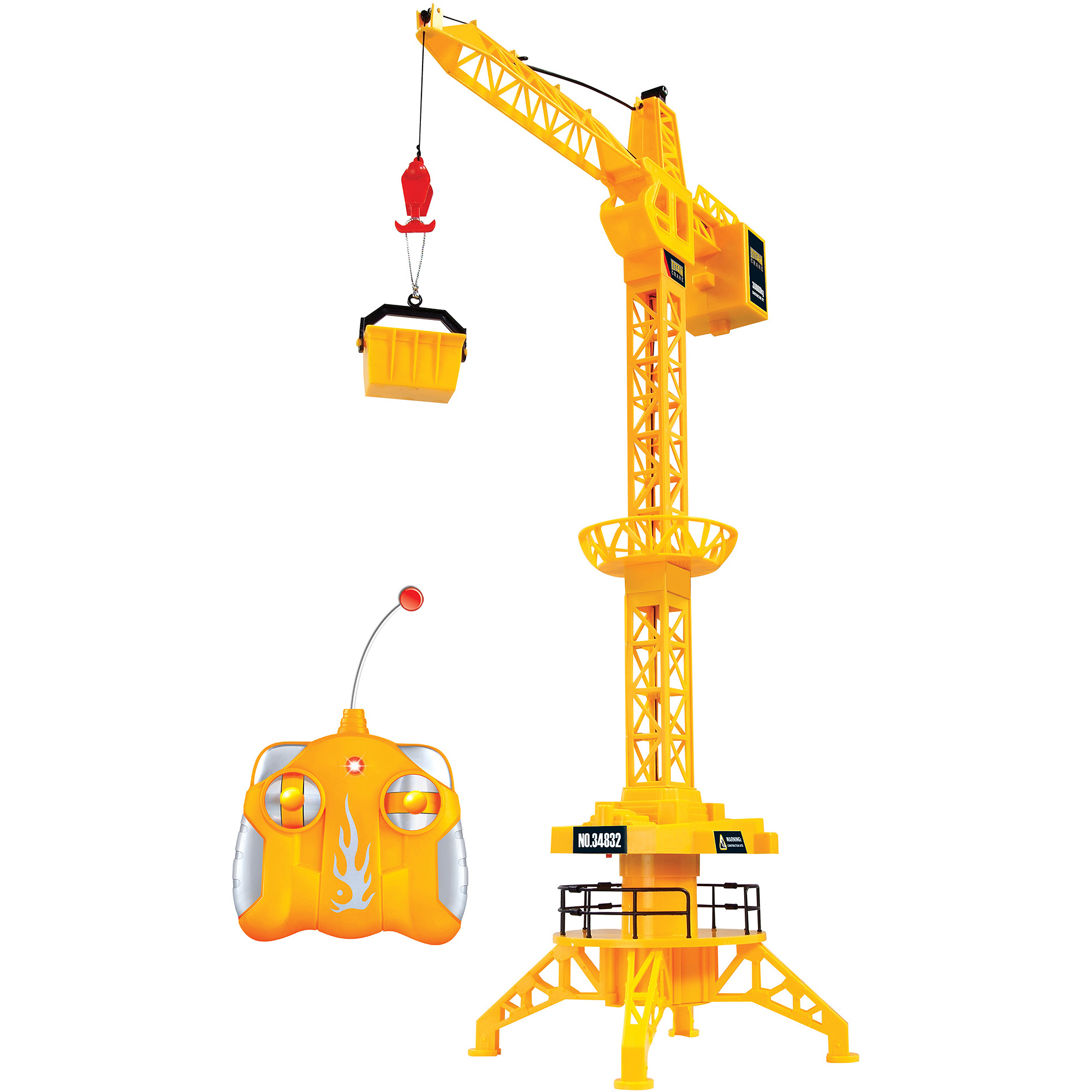 World Tech Toys King Force Crane 1:40 RC Construction Vehicle