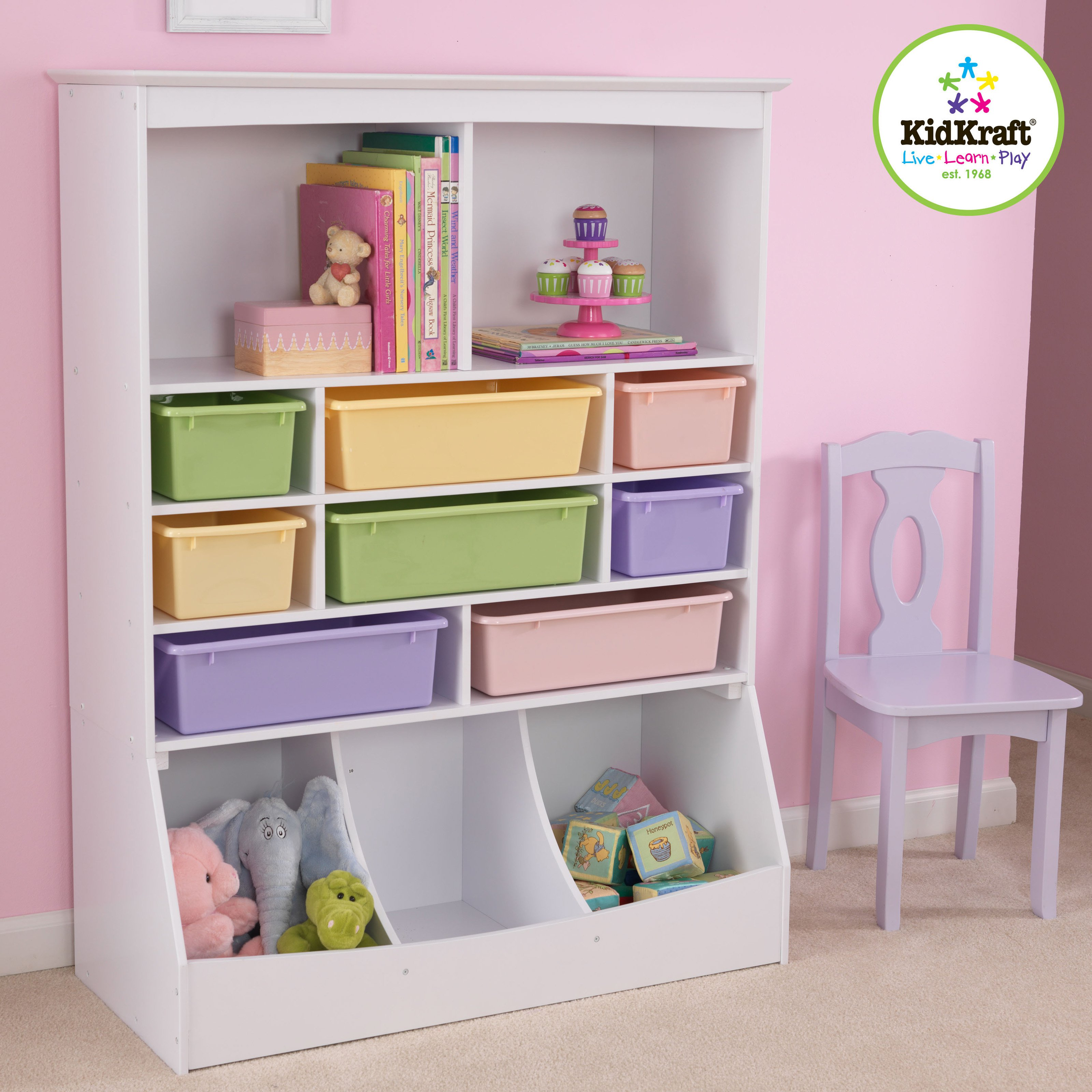 KidKraft Wall Storage Unit   White   14980   Walmart.com