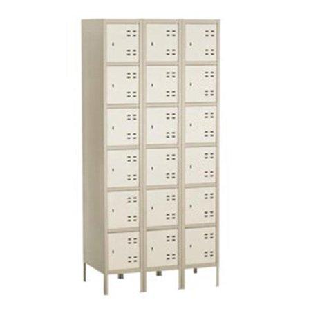 Six Tier Locker 3 Column in Tan