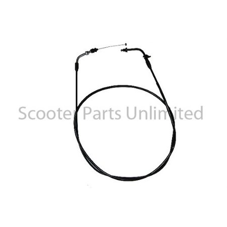 Gas Gy6 Scooter Moped Bike Throttle Cable w Clip 78