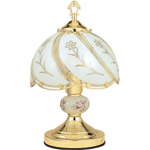 ORE International Floral Touch Lamp, White by ORE INTERNATIONAL INC