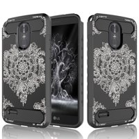 LG Stylo 3 Plus Case, LG Stylo 3 Case, LG Stylus 3 Plus Cover, Tekcoo [Tcf Series] Shock Absorbing Defender Rugged Carbon Fiber Slim Hard Bumper Cases For LG Stylo 3 /Stylus 3 / LS777 -Datura
