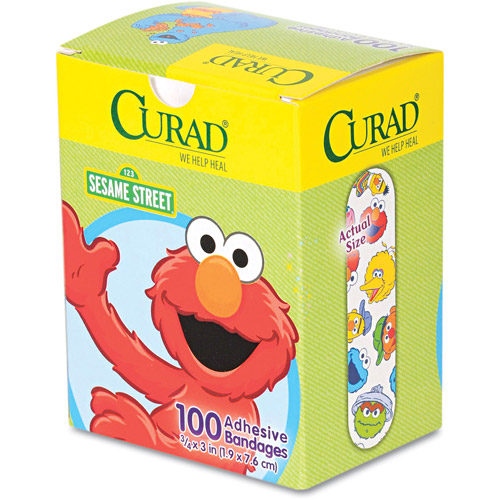 Curad Sesame Street Adhesive Bandages, 100 count