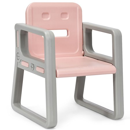 Gymax Kids Table and 2 Chairs Set Toddler Table w/ Storage Shelf For Baby Gift Pink - image 8 de 10