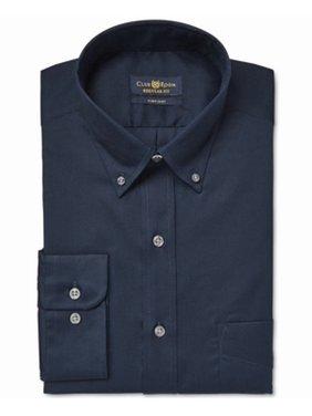 Club Room Mens Pinpoint Button Up Dress Shirt