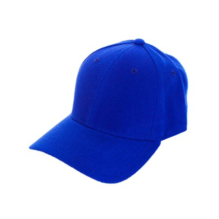 Decky Men's Fitted Blank Curved Brim Baseball Hat Cap](Miner Hats)