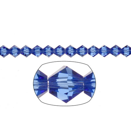Bicone Crystal Beads Cobalt Blue Faceted xilion Crystal For Jewelry Making mm 55Cnt