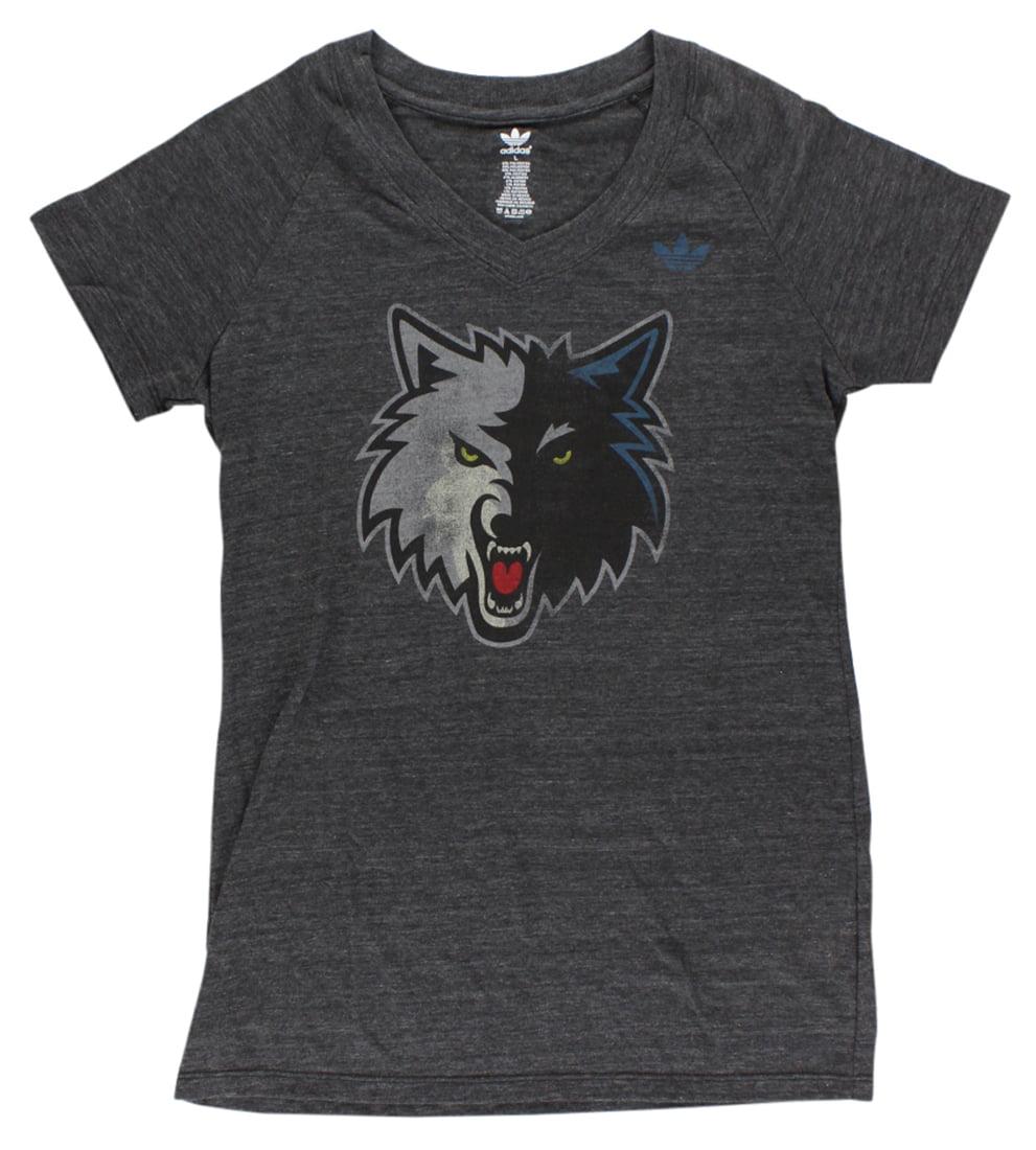Adidas Womens Minnesota Timberwolves NBA Big Better T Shirt Dark Grey