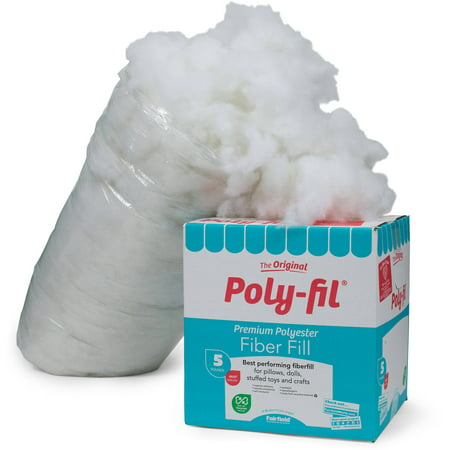 Poly-Fil Premium Fiber Fill - 5 lb. Box (Fairfield 10 Pound Poly Fil Premium Polyester Fiber)