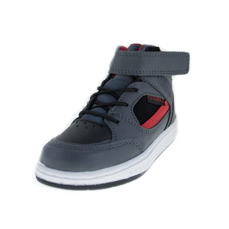 Future Little Boys Gray Red High-Top Hook And Loop Tennis Shoes](Back To The Future 2 Shoes Halloween)