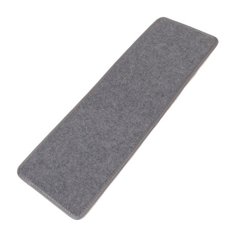 Polypropylene Fiber Non-slip Floor Staircase Stair Mat Pad Rug Gray 75cm x 24cm Only 1 Piece ()