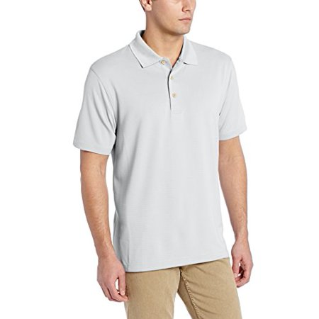 Cubavera Mens Essential Textured Performance Polo Shirt  Cm Silvery Moon  Medium