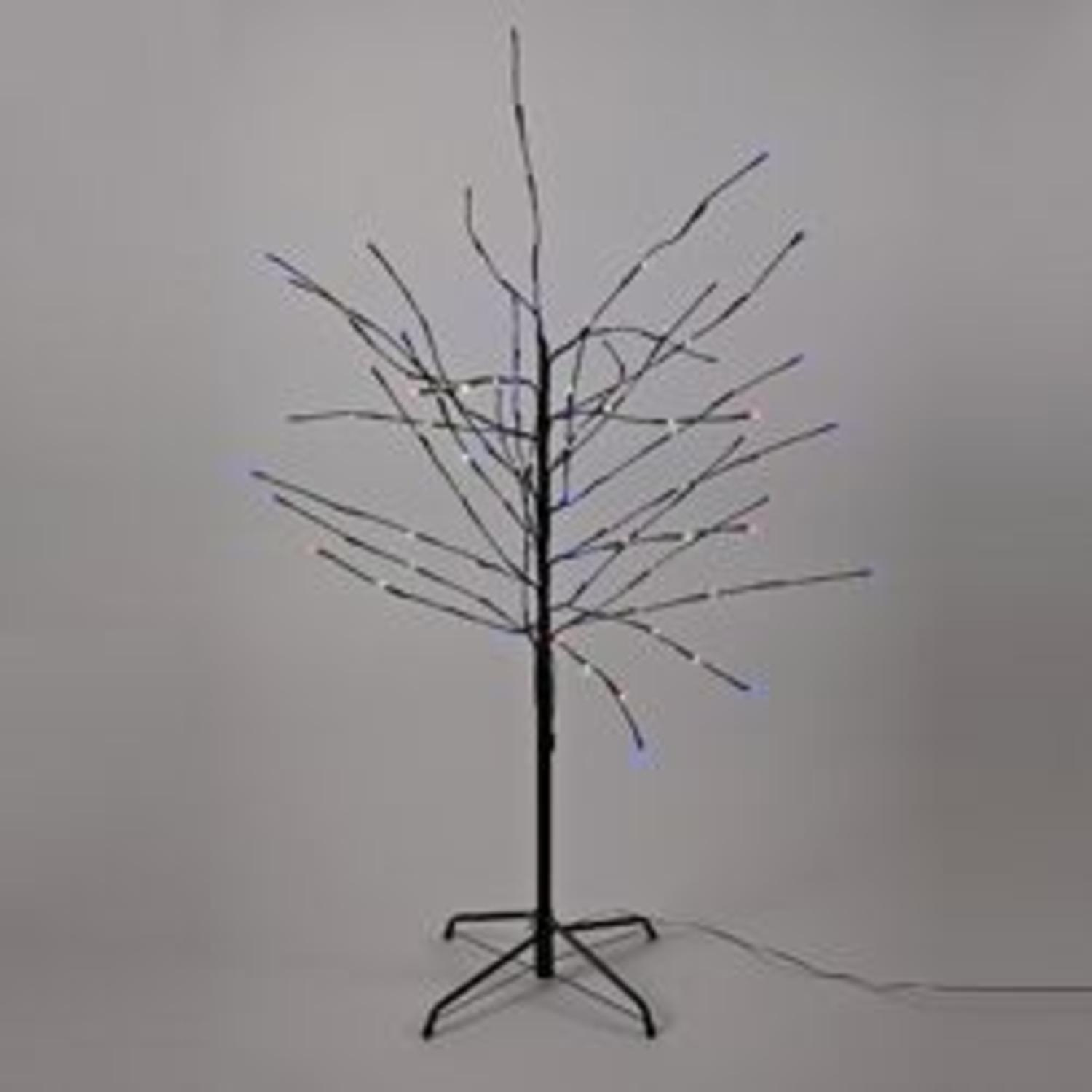 Pre Lit Christmas Twig Tree: 4' LED Pre-Lit Artificial Christmas Twig Tree