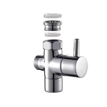 Sink Diverter (Brass Sink Valve Diverter Faucet Splitter for Kitchen or)
