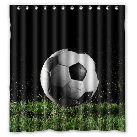 XDDJA soccer ball art Shower Curtain Waterproof Polyester Fabric Shower Curtain Size 60x72 inches - image 1 de 1