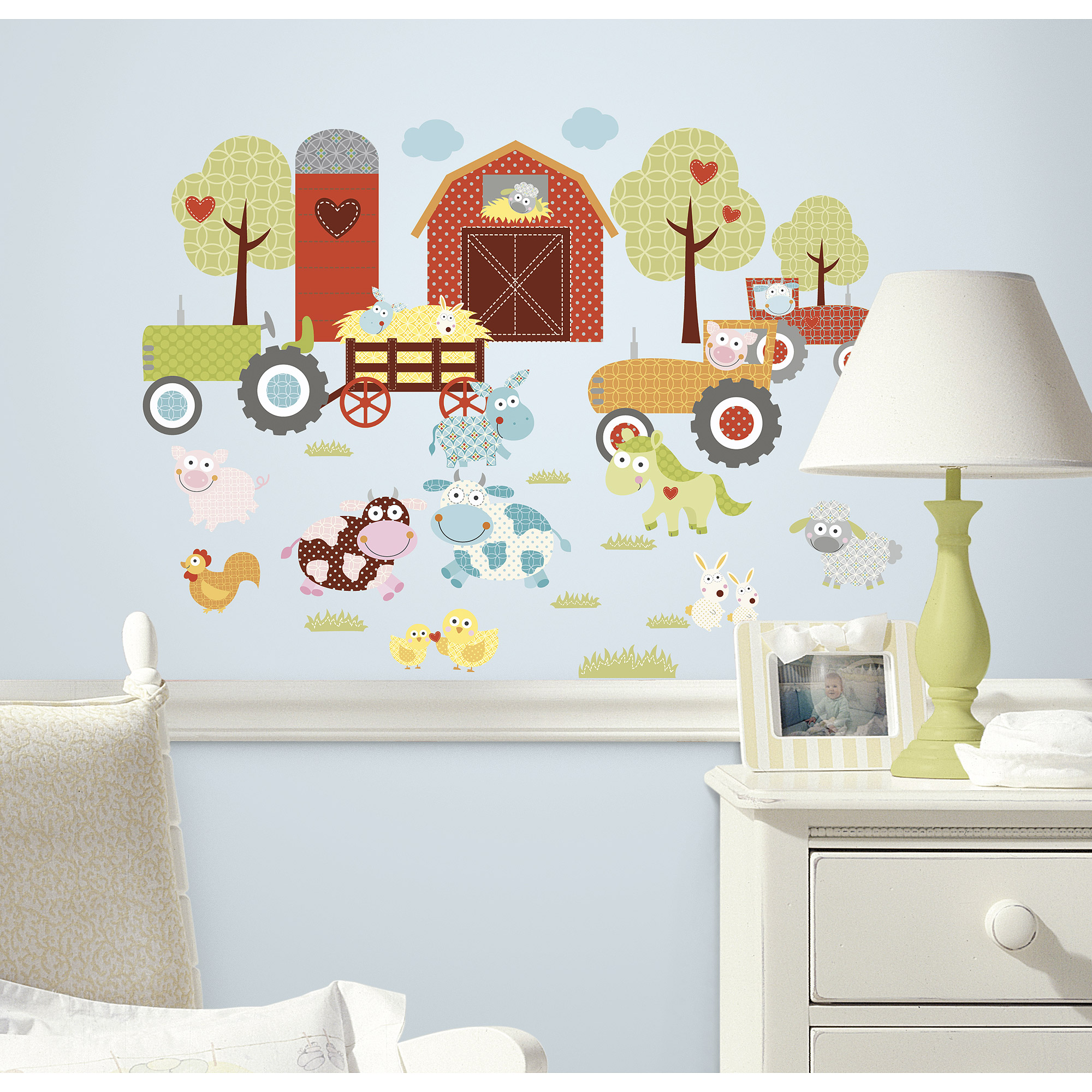 RoomMates Happi Barnyard Peel & Stick Wall Decals