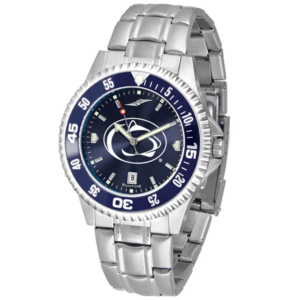 "Penn State Nittany Lions NCAA Anochrome ""Competitor"" Mens Watch (Color Bezel)"