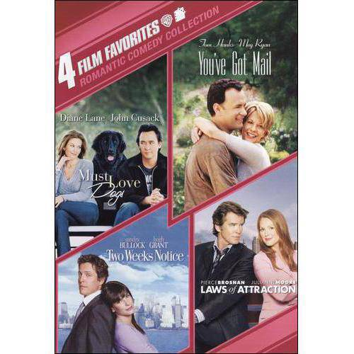 4 Film Favorites: Romantic Comedy Collection Must Love Dog   You've Got Mail   Two Weeks Notice   Laws Of... by WARNER HOME ENTERTAINMENT