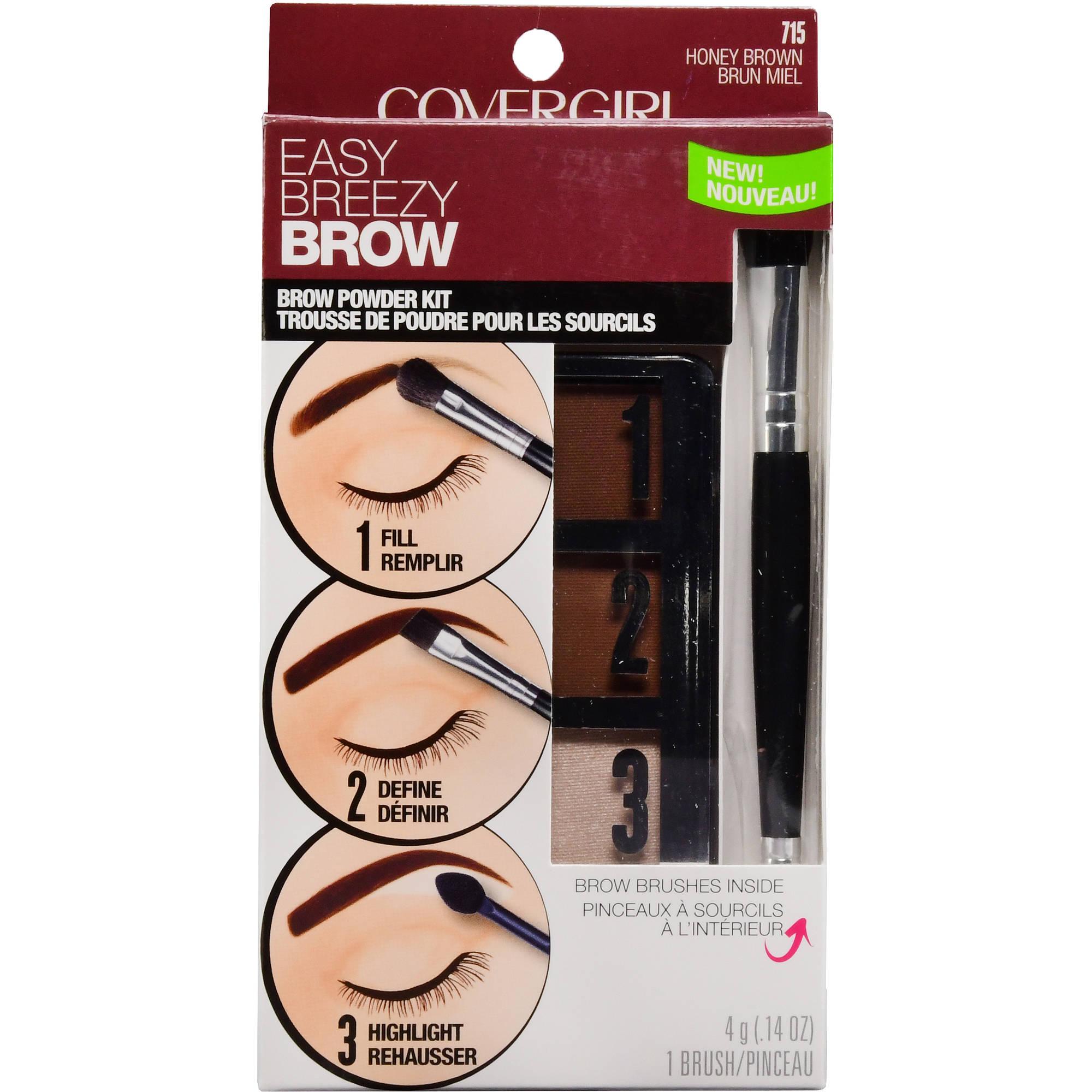 Covergirl Easy Breezy Brow Powder Kit Honey Brown Walmart