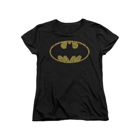 Batman DC Comics Word Logo Women's T-Shirt - Female Batman Shirts