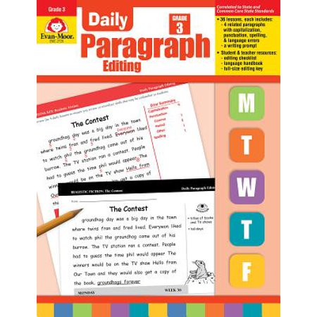 Daily Paragraph Editing, Grade 3 (Paragraph On My Daily Routine In German)