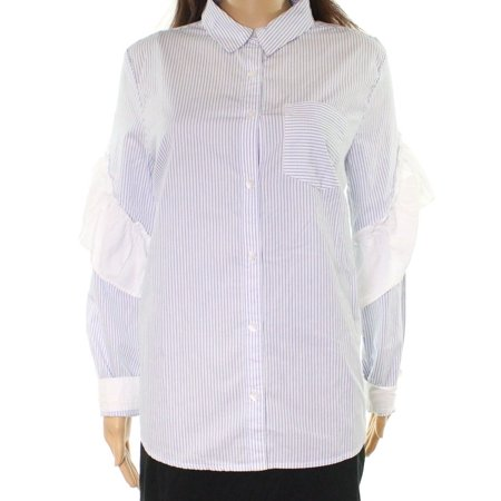 26d3c14c9 Abound Tops & Blouses - Abound Womens Small Ruffle-Trim Button ...