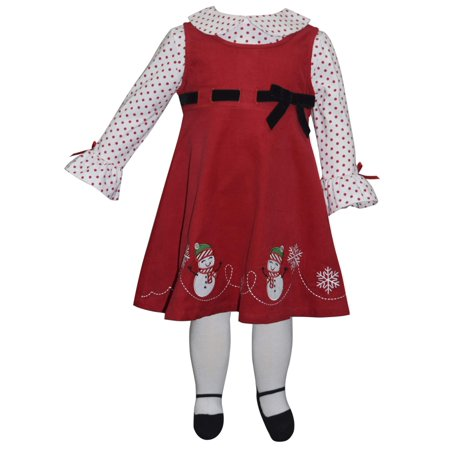 75ab0bf62fc Blueberi - Long Sleeve Top   Snowman Holiday Jumper Dress with ...