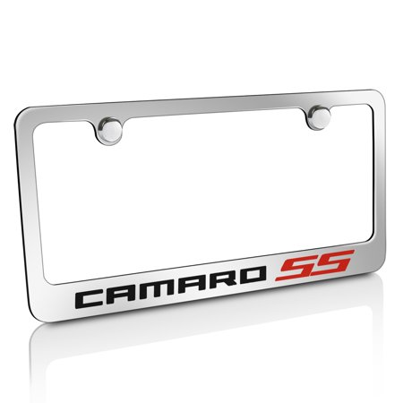 Chevrolet Camaro Red SS Metal Chrome License Frame
