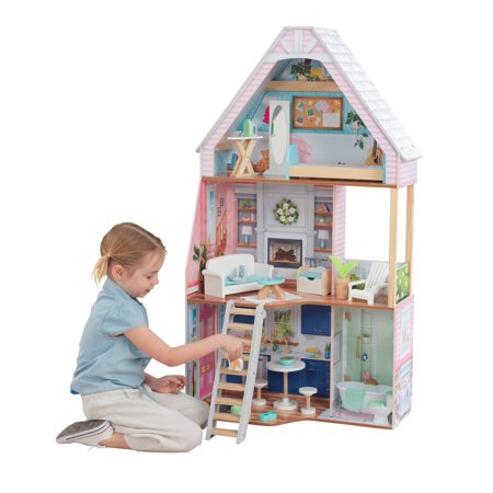 KidKraft Matilda Dollhouse with EZ Kraft™ Assembly with 23 accessories included Dollhouse Womens Rock