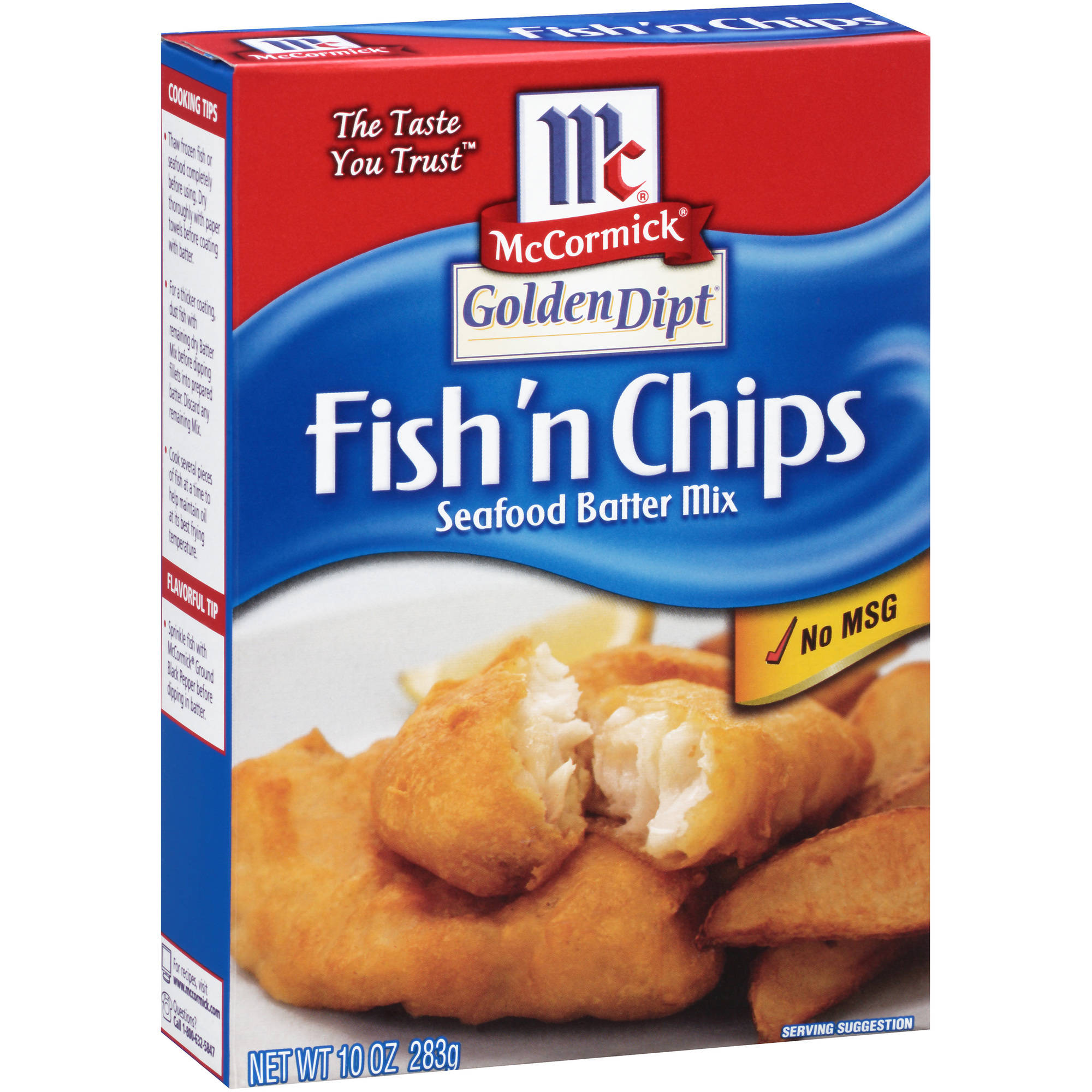 McCormick Golden Dipt Fish 'n Chips Seafood Batter Mix, 10 oz