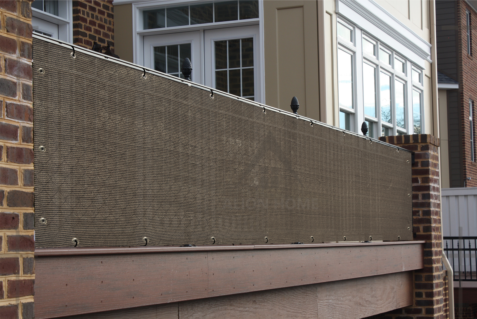4 x 50 Alion Home Elegant Privacy Screen Fence Mesh Windscreen for Backyard Deck Patio Balcony Pool Porch Railing Brown//Mocha
